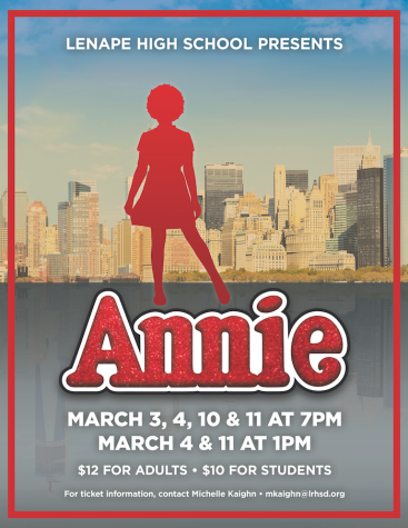 Annie Comes to Lenape on March 3, 4, 10, 11