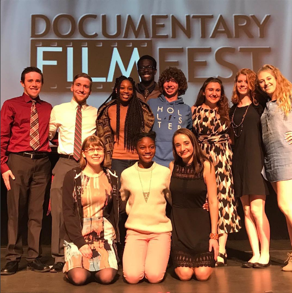Filmmakers and TV 3 students featured at the festival   Photo from the Lenape TV instagram