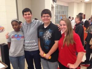 Imani Constant '14. Tucker Hanson '15, Trevor Wing '14, & Elizabeth McGinley '15