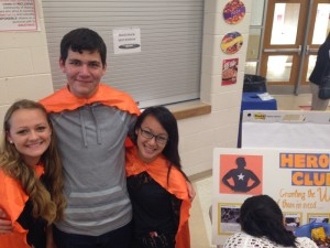 Taylor Kane '16, Tucker Hanson '15, and Liza Chang '16