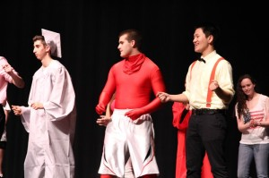 Mr. Lenape contestants are dressed in costume as they compete!