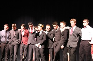 Mr. Lenape competitors stand together