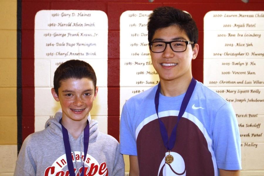 Ryan Kasper 18 (left) David Kim 15 (right)