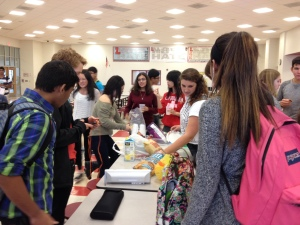 Members of Chemistry Club celebrate Mole Day with the classic chips and guacaMOLE after school!