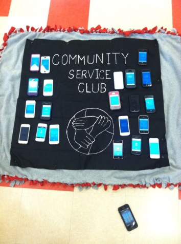 The Community Service Club's official blanket.