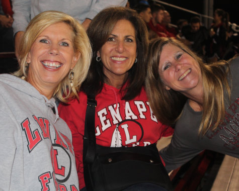 """""""This is her senior year so its great to watch her through all the four years she's been here at Lenape"""" -Mrs. DeKrafft (left) speaking about her daughter, Makena DeKrafft ('15)"""