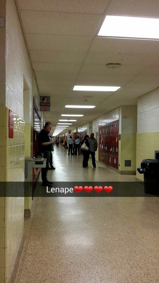 During Back to School Night in A-Hall of Lenape