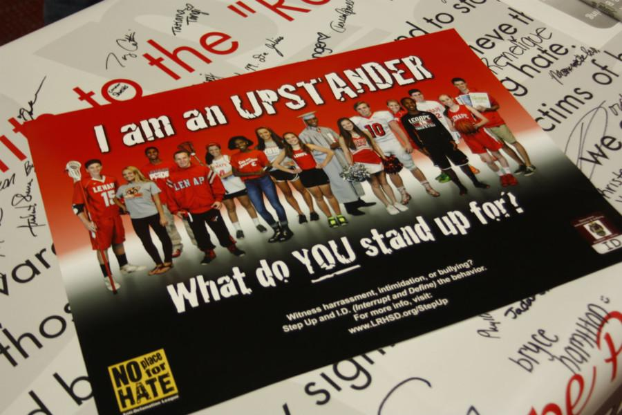 Various students from Lenape were nominated by teachers to be on the Upstander poster, because of their efforts to be role model to others.