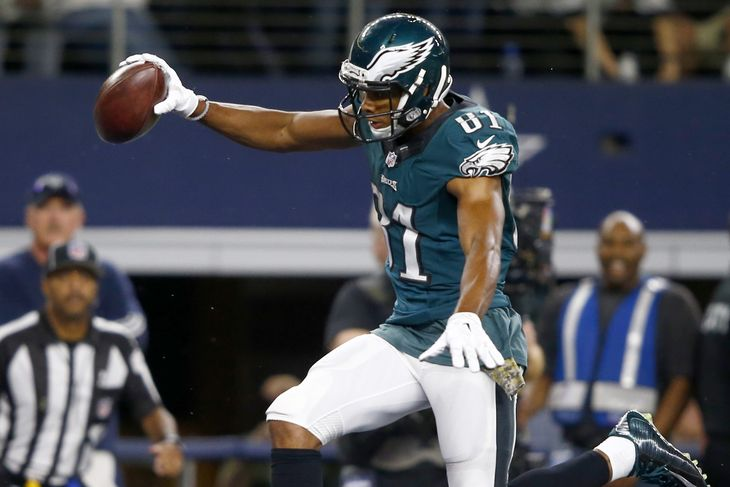 Jordan Matthews after scoring the game winning touchdown in overtime against the division rival Cowboys