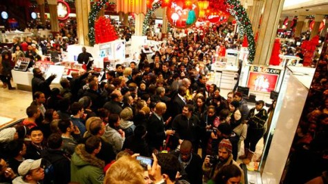 Enthusiastic Black Friday Shoppers