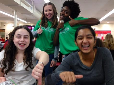 Julia Zak ('18) (top left), Imani Burton ('18) (top right), Becky Michnowski ('18) (bottom left), and Nivi Ramalingam ('18) (bottom right) all sharing opinions