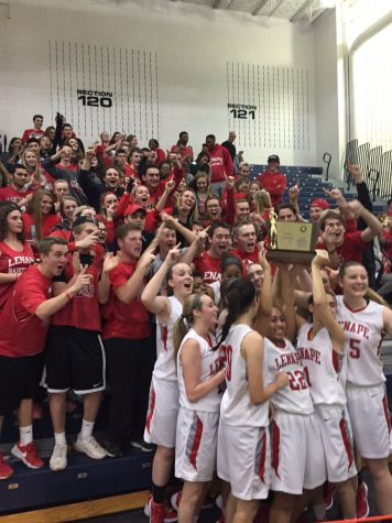 Dedicated fans and Lenape students reveling in the success of their peers.