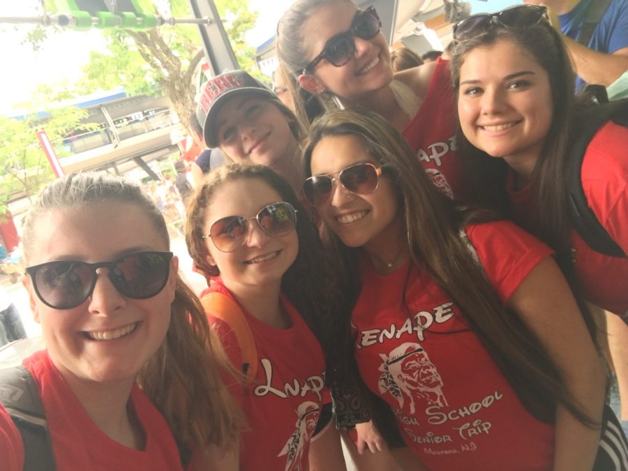 In line for their first ride!! From left to right: Caroline Kovacs, Steph Mekal, Maya Georgi, Jess Szasz, Laura Schrancz, and Jaclyn Peditto