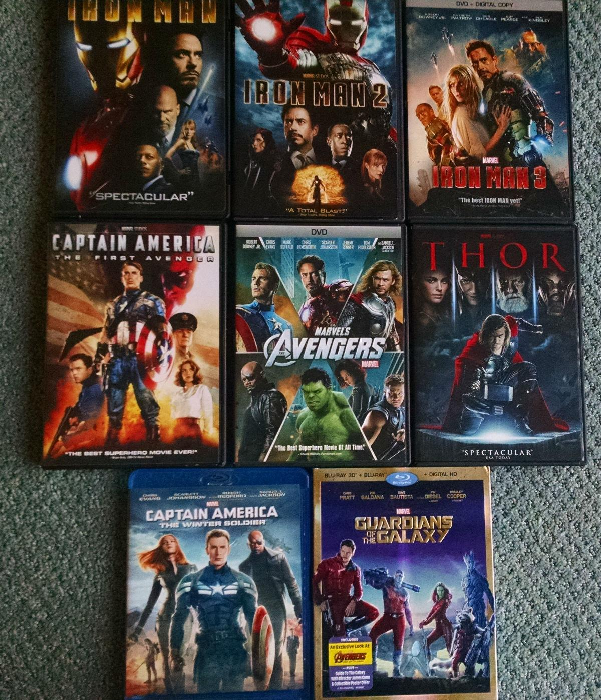 Collection Marvel Cinematic Universe movies