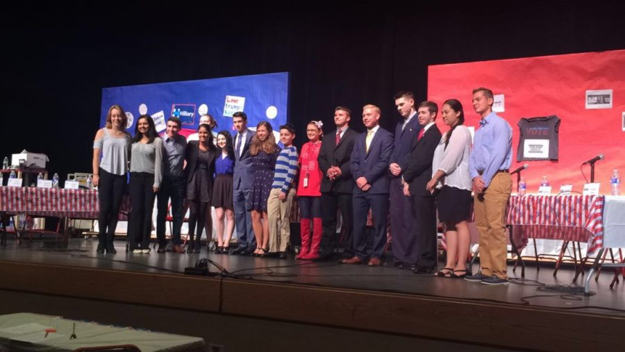 Students Represent Presidential Candidates in Mock Debate 2016