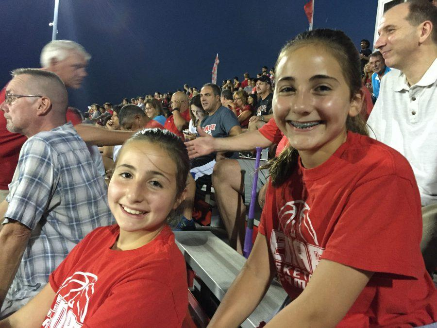 Lenape's little siblings were also in the bleachers supporting their future team