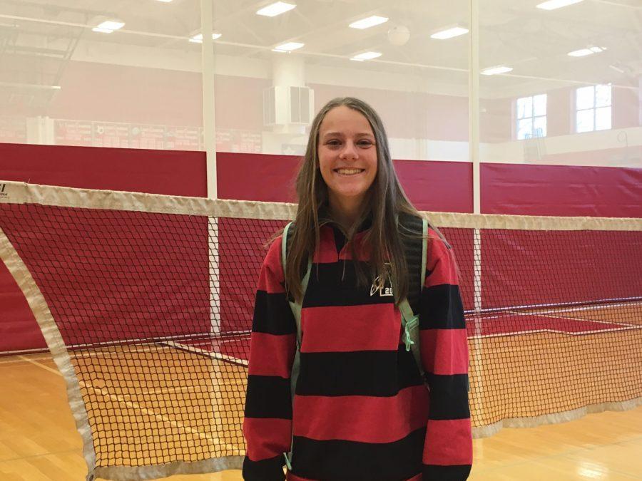 Bella Hovis ('18), a Lenape soccer player