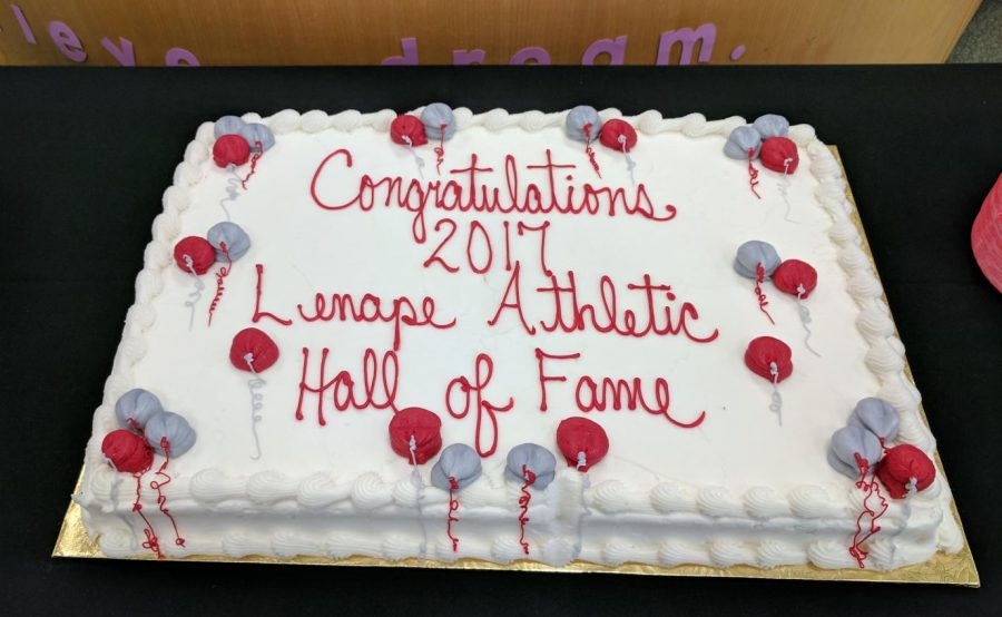 Celebratory cake for the honorees and their friends and families